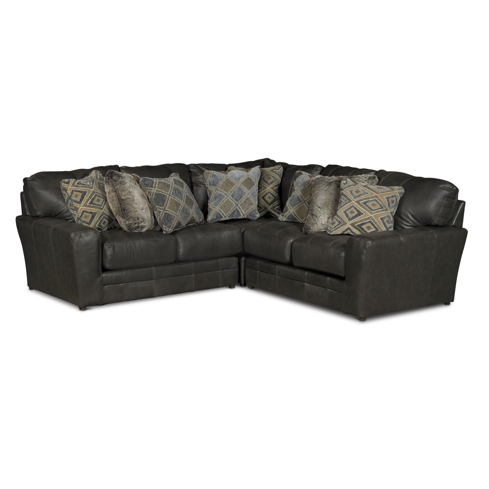 Casual Classic Steel Gray 3 Piece Sectional Sofa - Denali