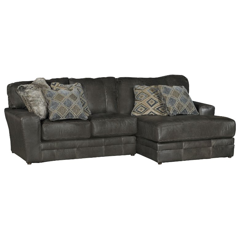 Steel Gray 2 Piece Sectional Sofa with RAF Chaise - Denali | RC ...
