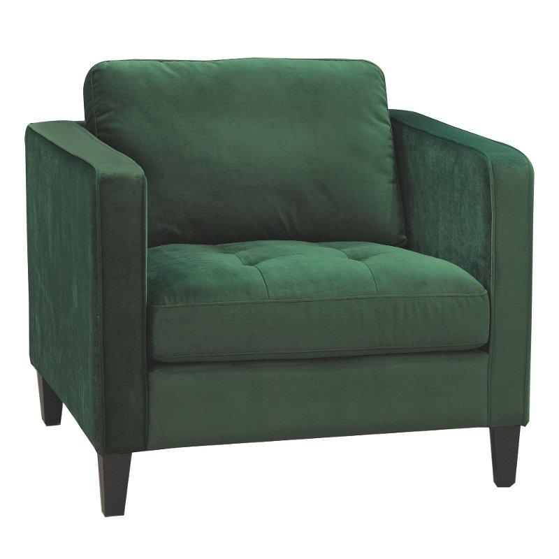Willey Furniture: Magnolia Home Furniture Emerald Green Velvet Chair
