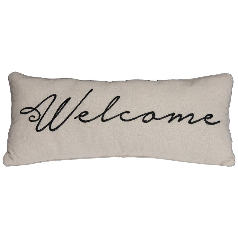 Rc Willey Boise Idaho: Cream Fabric Welcome Throw Pillow