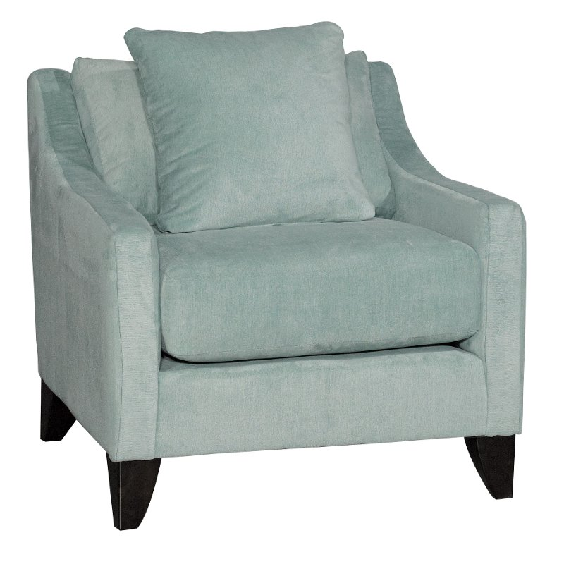 Light Green Contemporary Accent Chair Serenity Rc