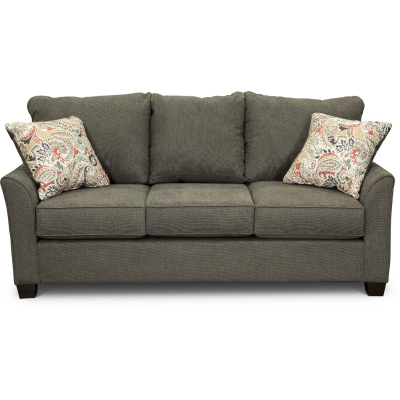 Beau Casual Contemporary Charcoal Gray Sofa   Tara | RC Willey Furniture Store