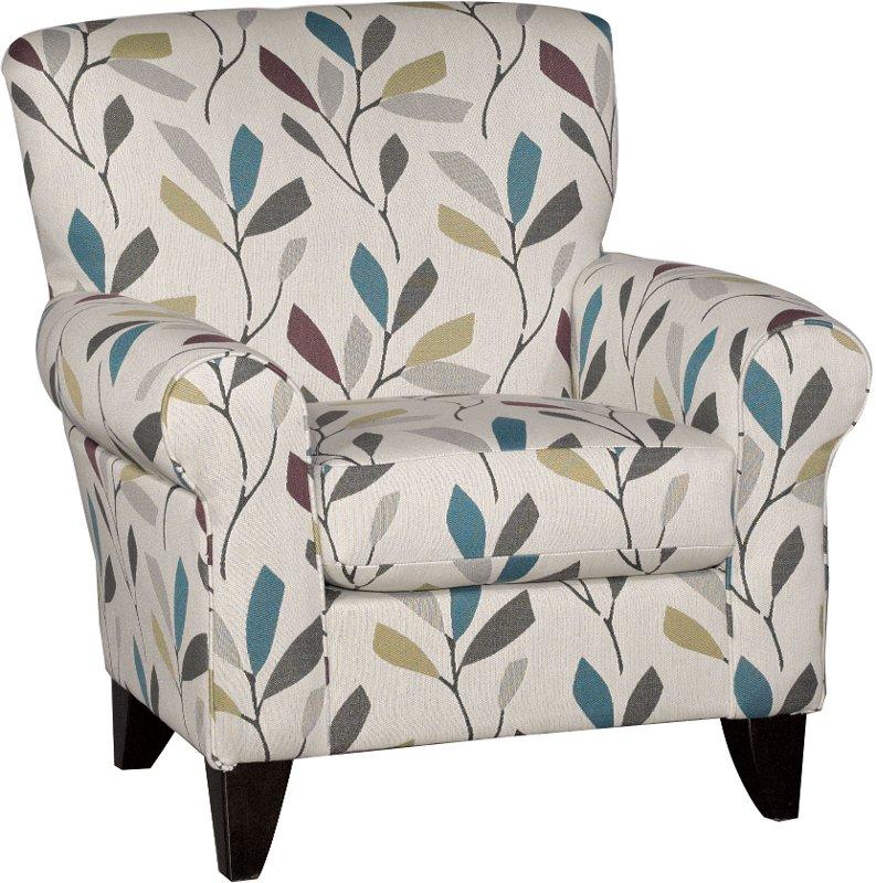 Cream Casual Contemporary Accent Chair   Dayton