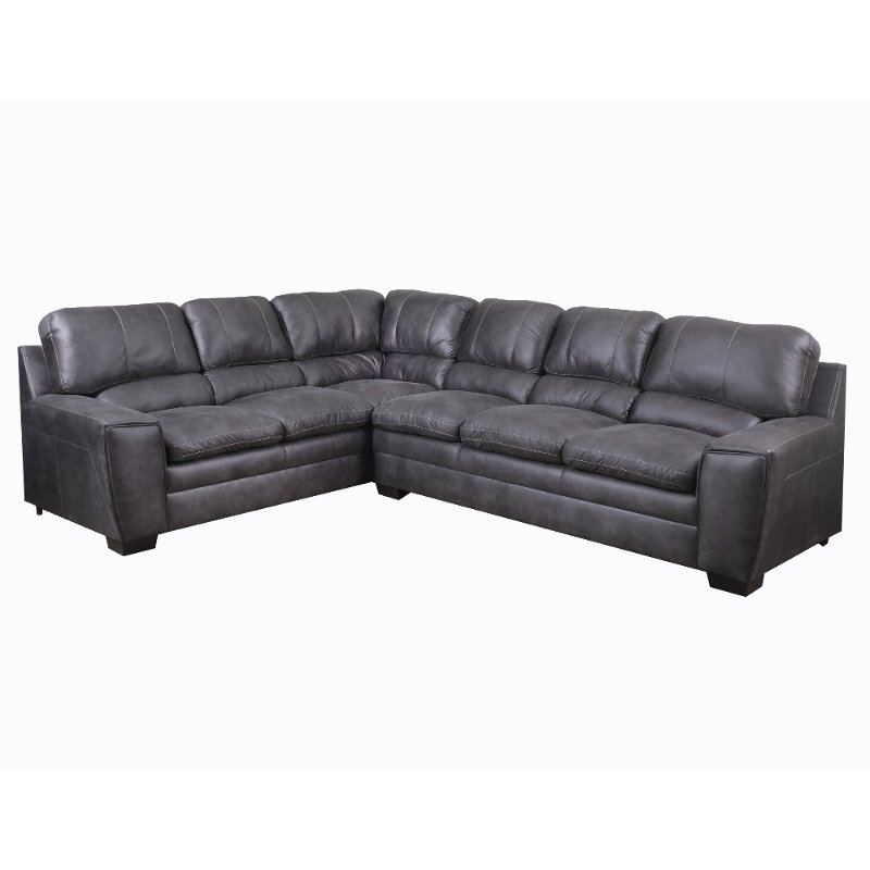 Granite Causal Contemporary 2 Piece Sectional Sofa Caruso Rc