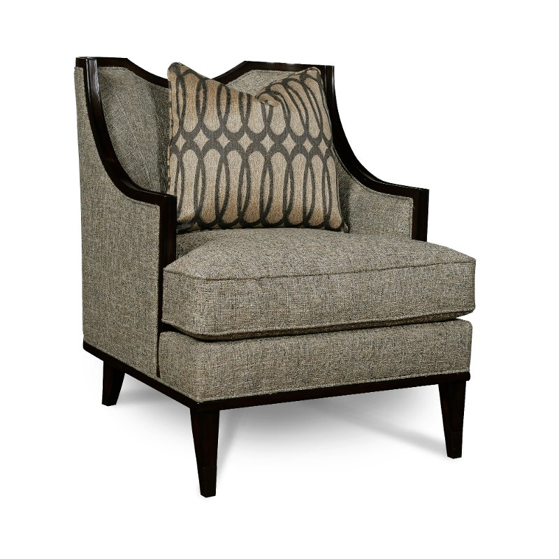 Modern Traditional Mineral Brown Chair - Intrigue