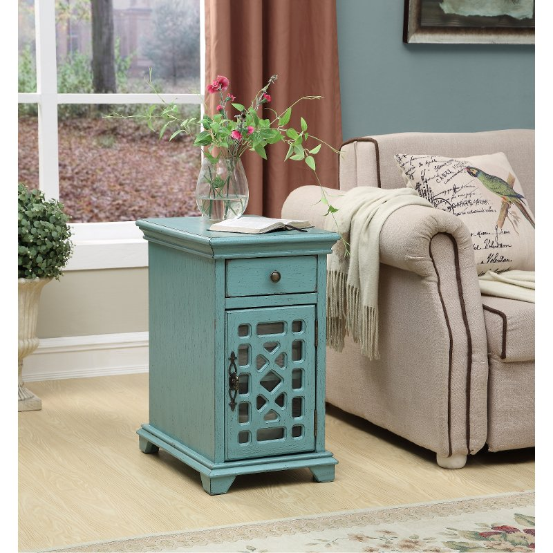 American Furniture Warehouse Mail: Modern Bayberry Blue End Table - Kevin