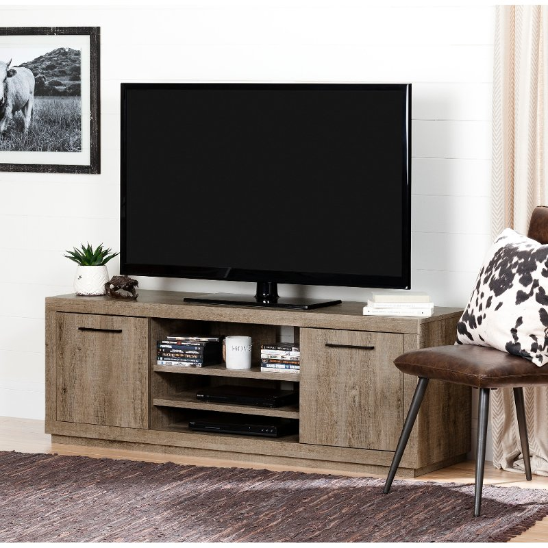 Weathered Oak Tv Stand For Tvs Up To 60 Inch Kanji Rc Willey