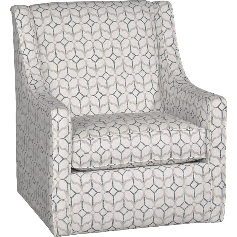 white and navy blue swivel chair rockaway rc willey furniture store