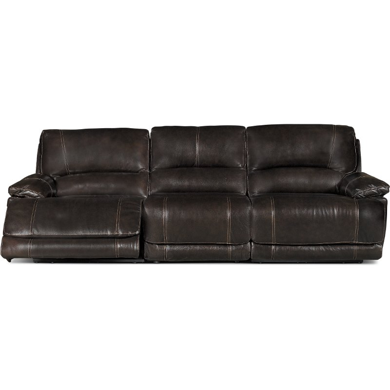 Brown 3 Piece Power Triple Reclining Sofa - Brant | RC Willey ...