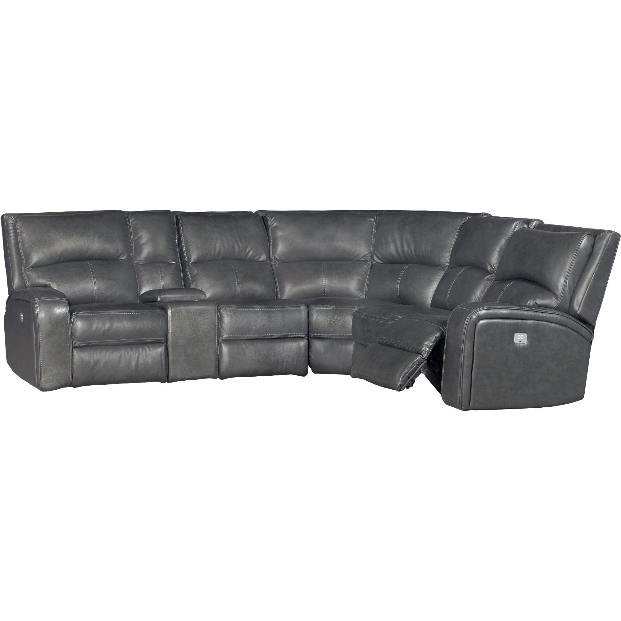 Gray 6 Piece Power Reclining Sectional Sofa Megan Rc