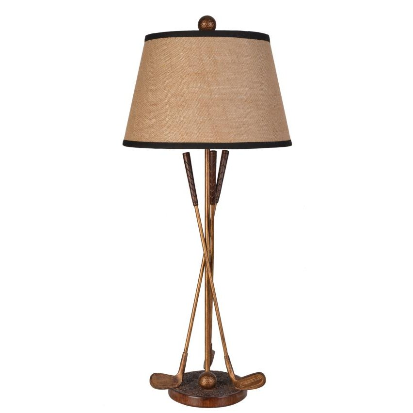 Bronze and gold poly resin golf table lamp rc willey furniture store bronze and gold poly resin golf table lamp aloadofball Gallery