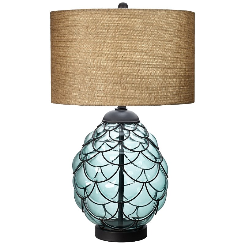 Blue Sea Glass Table Lamp Rc Willey Furniture Store