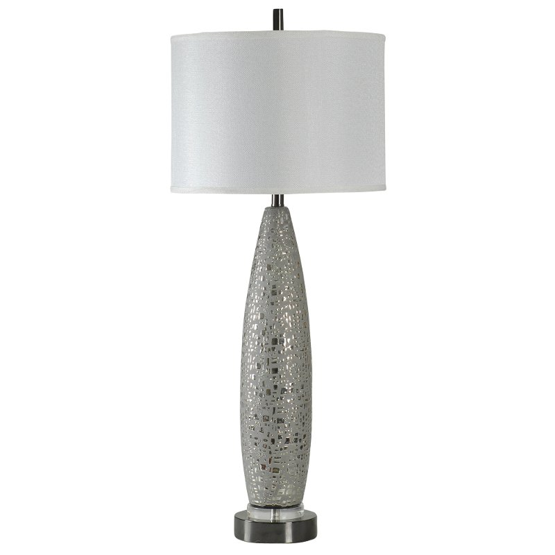 Metallic Ceramic Table Lamp With Acrylic Base Rc Willey Furniture