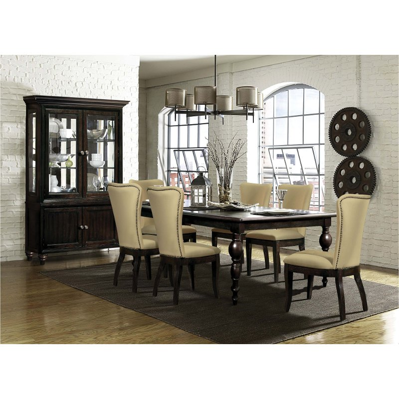 Rc Willey Stores: Dark Oak Traditional 5 Piece Dining Set - Tessy
