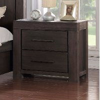Basalt Gray Casual Classic Nightstand - Heath