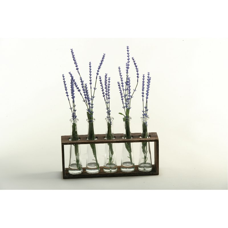 Lavender Spray Arrangement In Glass Vases On Wood Stand Rc Willey