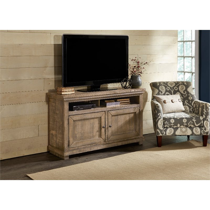54 Inch Distressed Gray TV Stand   Willow
