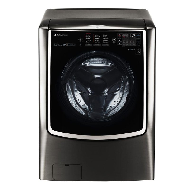 Lg Signature 5 8 Cu Ft Front Load Washer Black