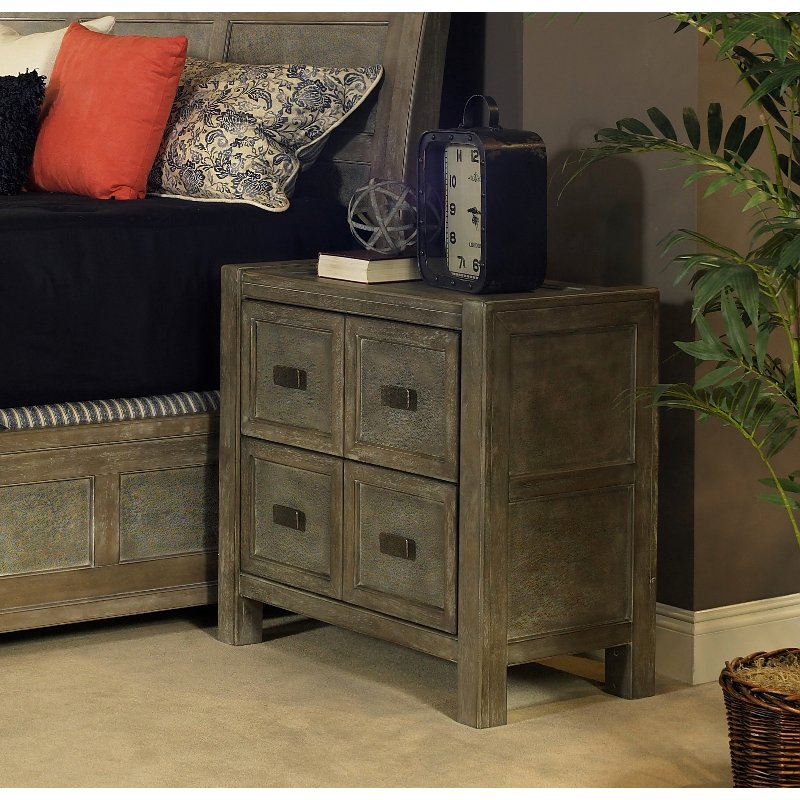 Rc Willey Outlet Center Now Closed: Classic Gray-Brown Nightstand - Beckham