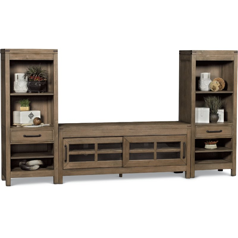 Tan 3 Piece Modern Entertainment Center St Croix Rc Willey Furniture