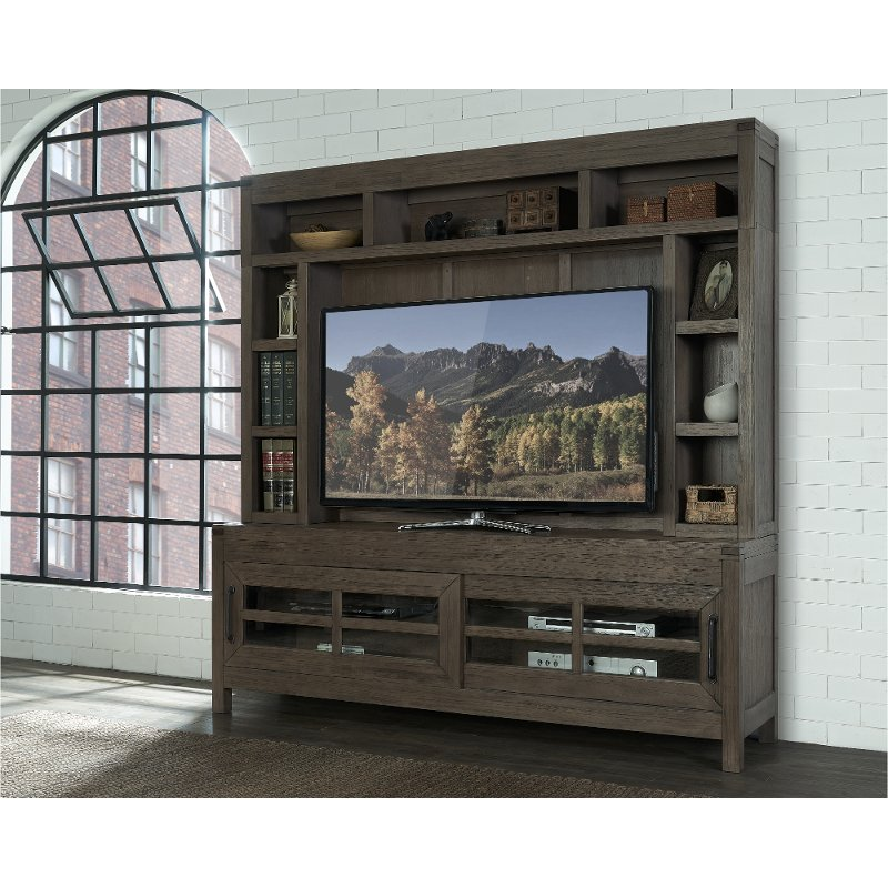Ordinaire Charcoal Brown 2 Piece Modern Entertainment Center   St. Croix | RC Willey  Furniture Store