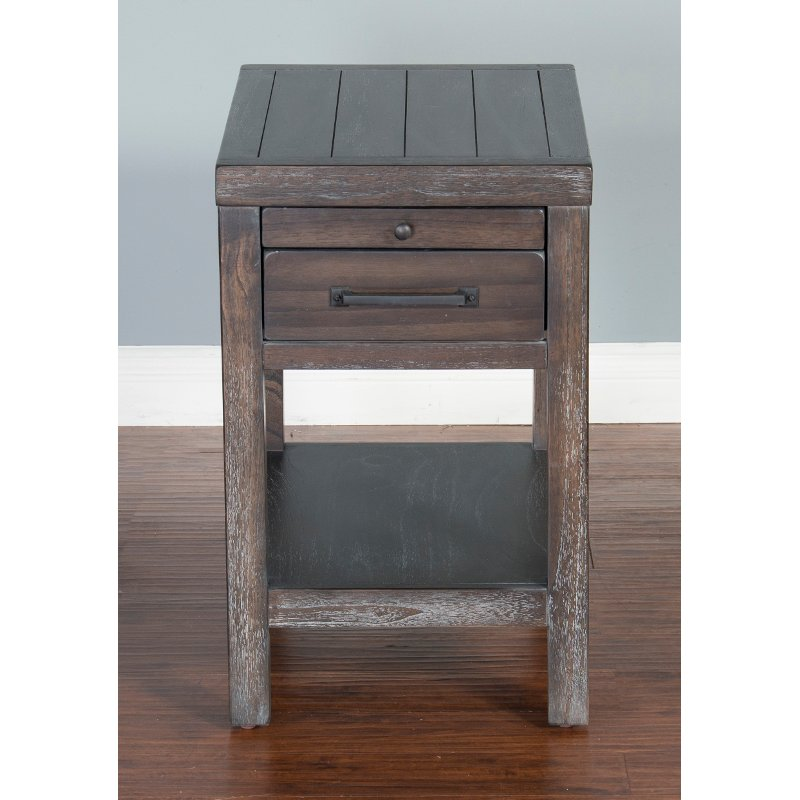 Rustic Dark Brown Side Table - Dundee | RC Willey Furniture Store