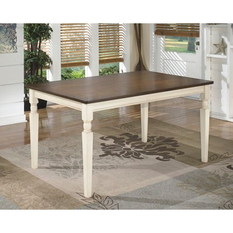 Farmhouse Cottage White and Brown Dining Table - Whitesburg | RC