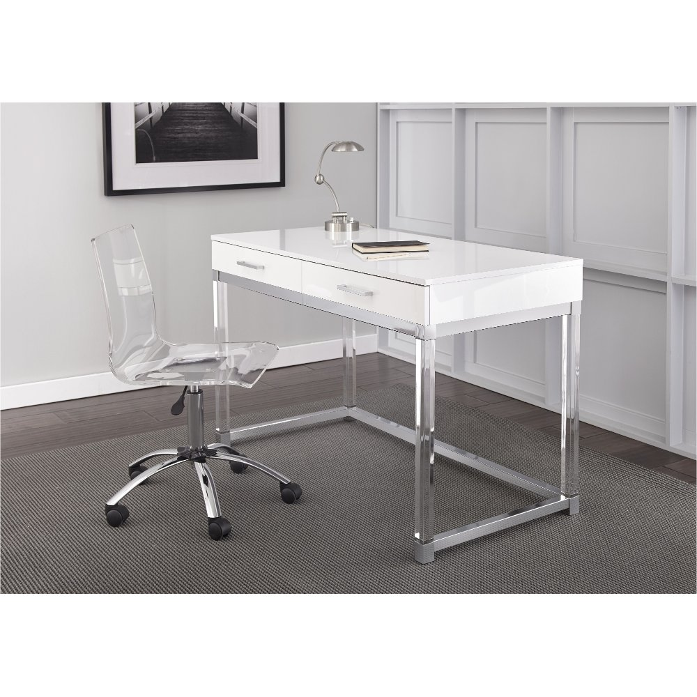 Modern White Desk - Everett | RC Willey Furniture Store