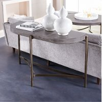 Contemporary concrete sofa table magnum rc willey for Sofa table rc willey