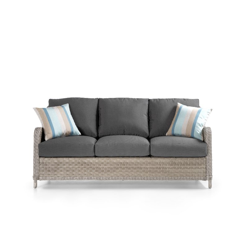 Coal Outdoor Patio Sofa Mayfair Rc Willey Furniture Store