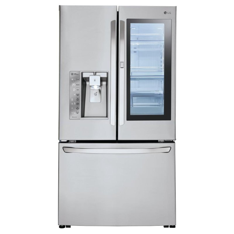 Lg Instaview French Door Refrigerator 36 Inch Stainless Steel Rc Willey Furniture Store