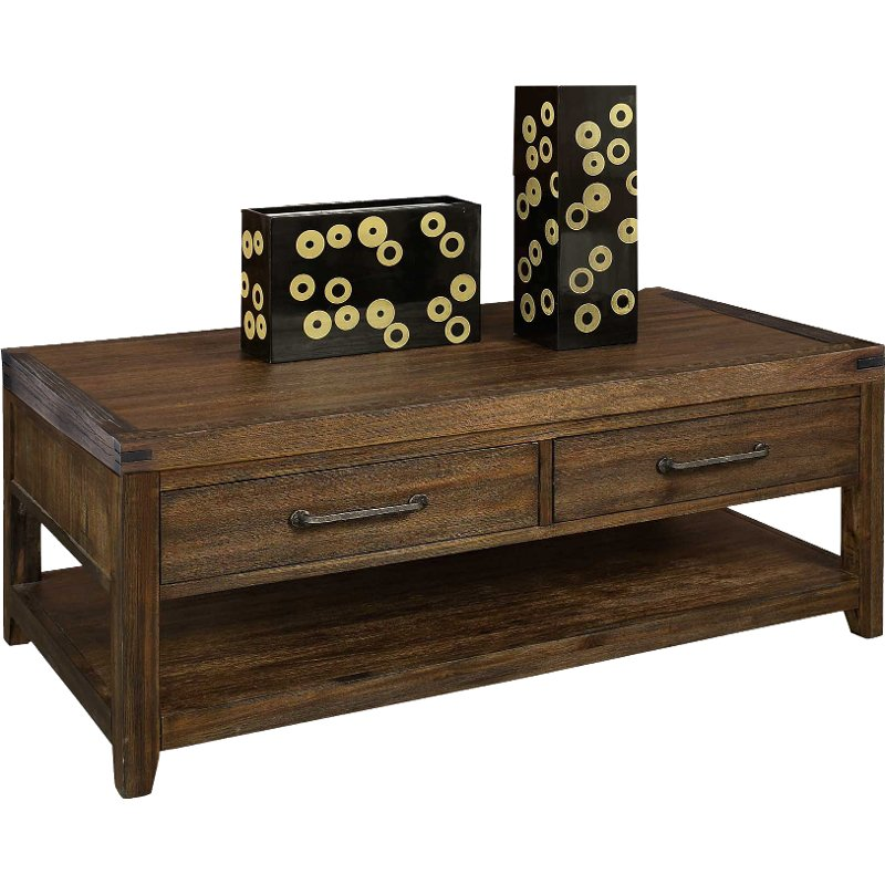 Burnished Walnut Brown Coffee Table St Croix Rc Willey Furniture