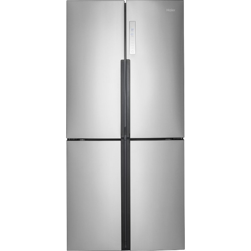 Haier 4 Door French Door Refrigerator 33 Inch Stainless Steel Rc