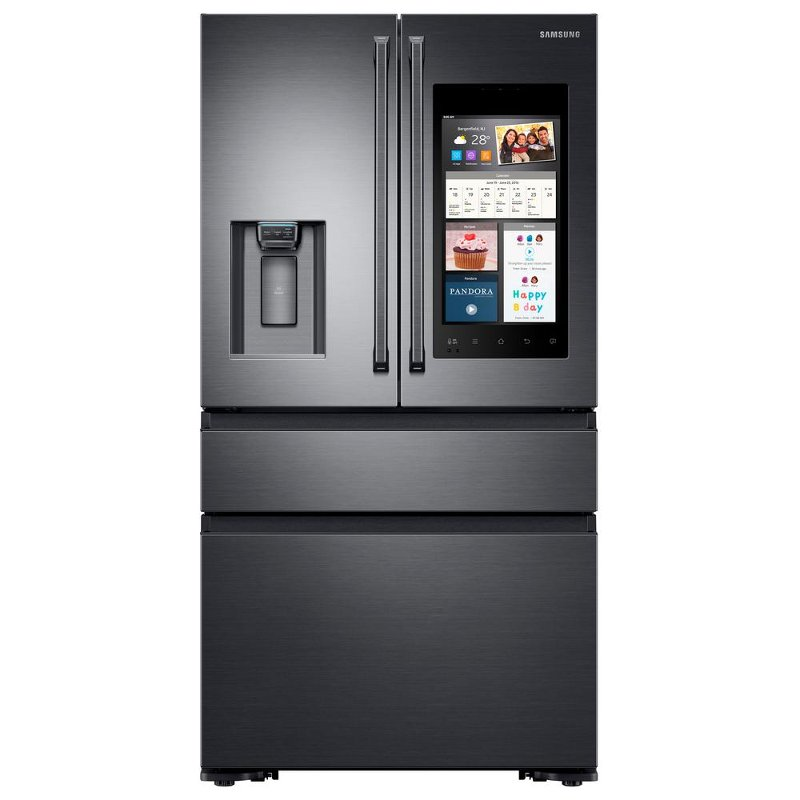 Samsung Capacity Counter Depth 4 Door French Door Refrigerator With Family  Hub 2.0   36 Inch Black Stainless Steel | RC Willey Furniture Store