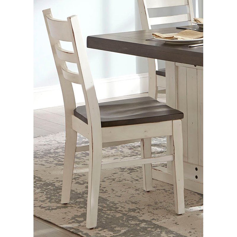 French Country White Two Tone Dining Chair Bourbon County Rc Willey Furniture