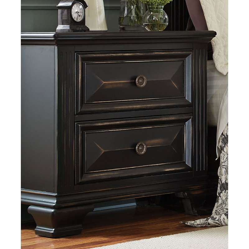 Rc Willey Lehi Ut: Black Traditional Nightstand - Passages