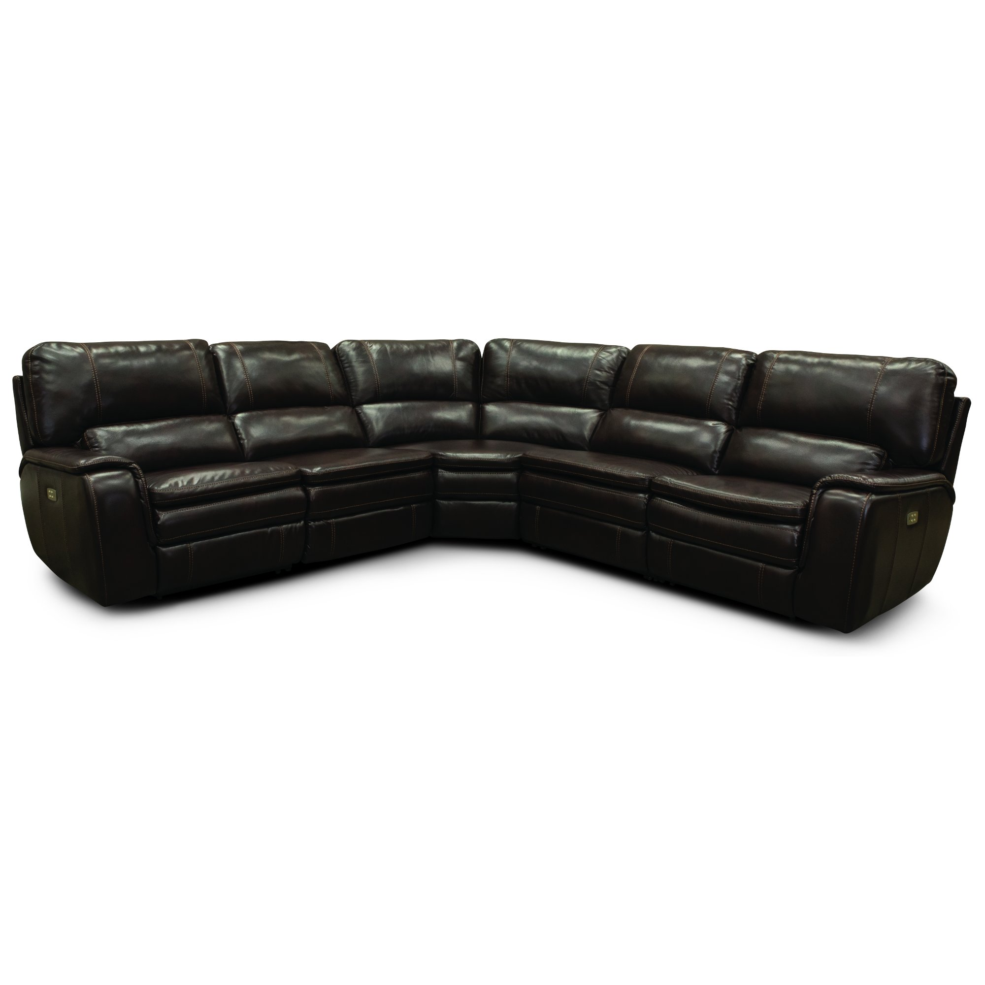 Brown 5 Piece Reclining Sectional Sofa Casey
