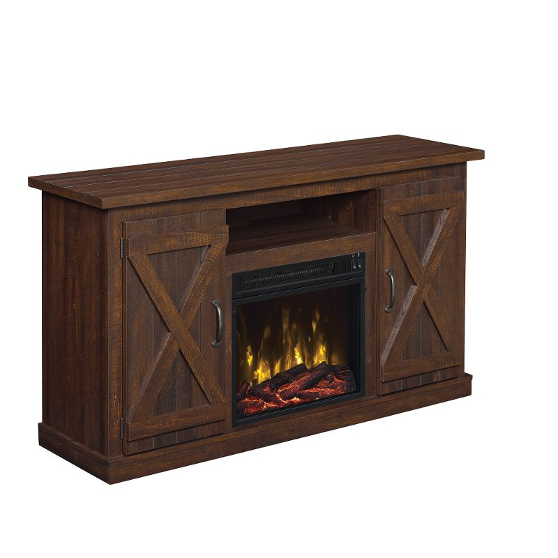 Espresso Brown Tv Stand And Fireplace 55 Inch Cottonwood Rc