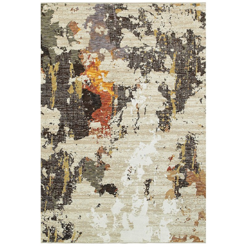 8 X 11 Large Beige And Charcoal Area Rug Evolution Rc Willey