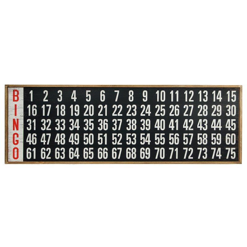 wooden bingo board decor