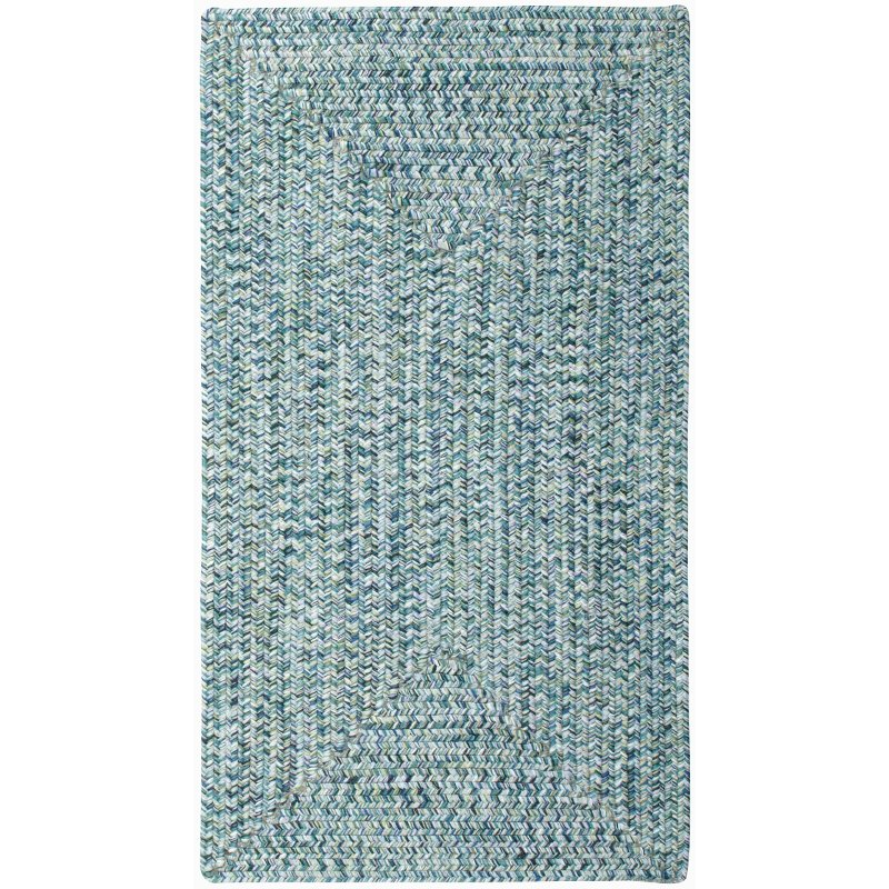 XX-Small Ocean Blue Braided Indoor-Outdoor Rug - Sea Glass | RC ...