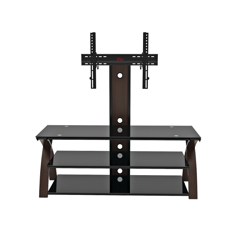 Espresso Brown And Black Flat Panel Tv Stand 50 Inch Willow Rc
