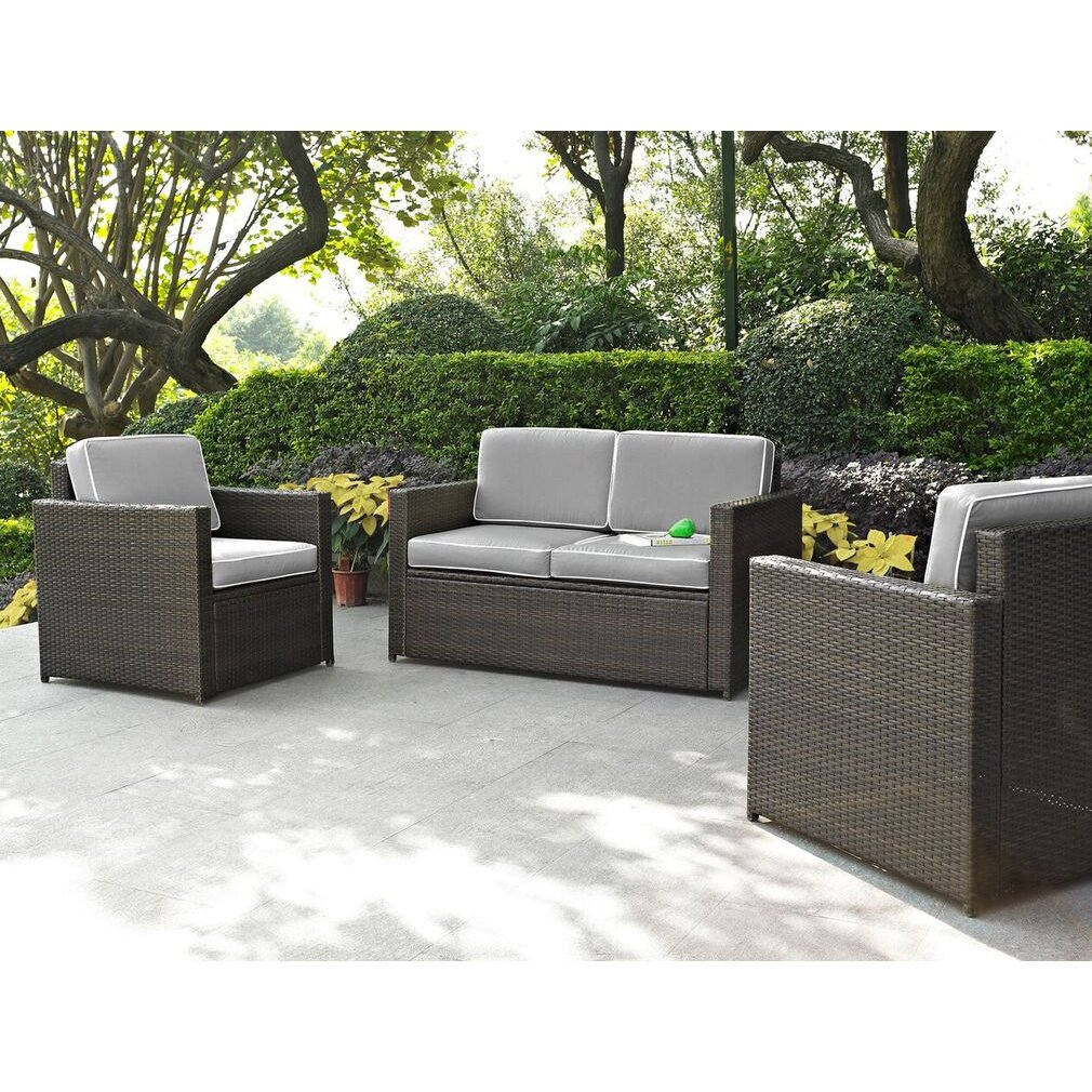 Gray and Brown 3 Piece Wicker Patio Furniture Set - Palm Harbor | RC Willey  Furniture Store - Gray And Brown 3 Piece Wicker Patio Furniture Set - Palm Harbor RC