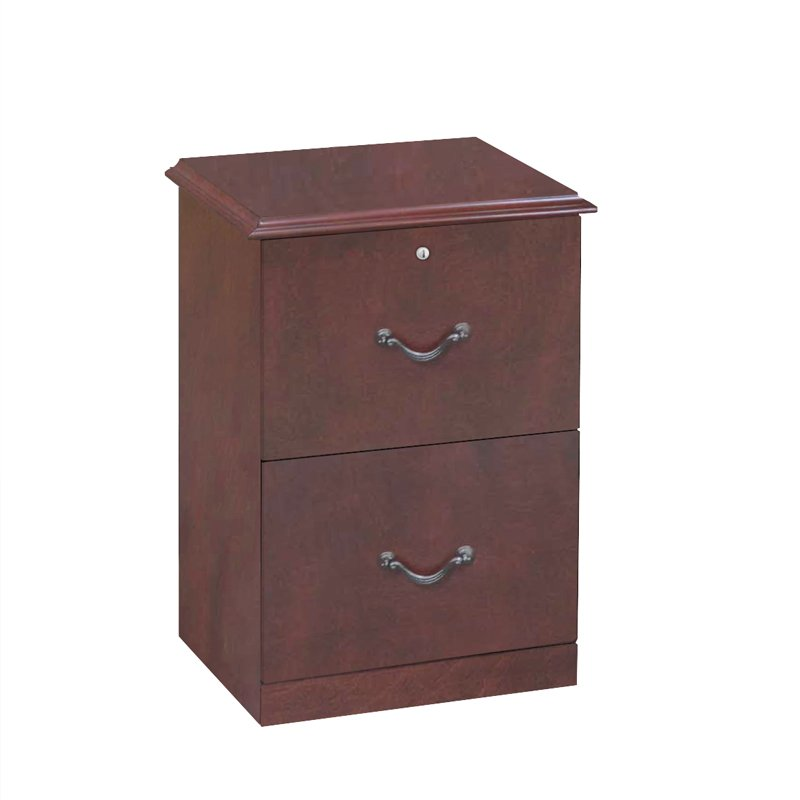 Cherry Brown 2 Drawer File Cabinet