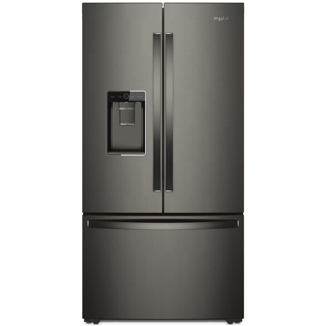 Whirlpool Counter Depth French Door Refrigerator 36 Inch 23 8 Cu Ft Black Stainless Steel Rc Willey Furniture Store