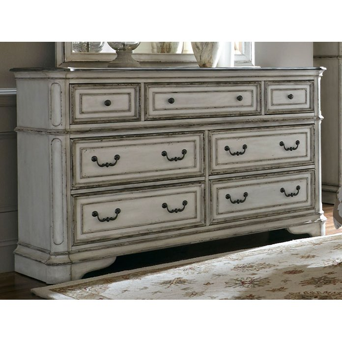 Antique White Traditional Dresser