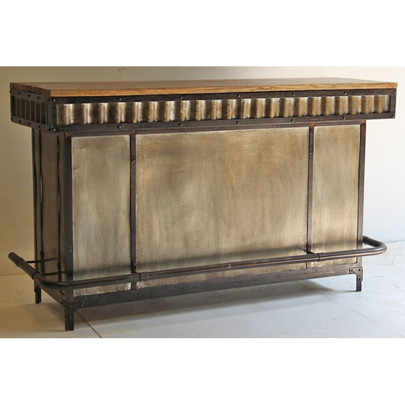 Mango And Metal Contemporary Bar Cabinet Manava Rc Willey