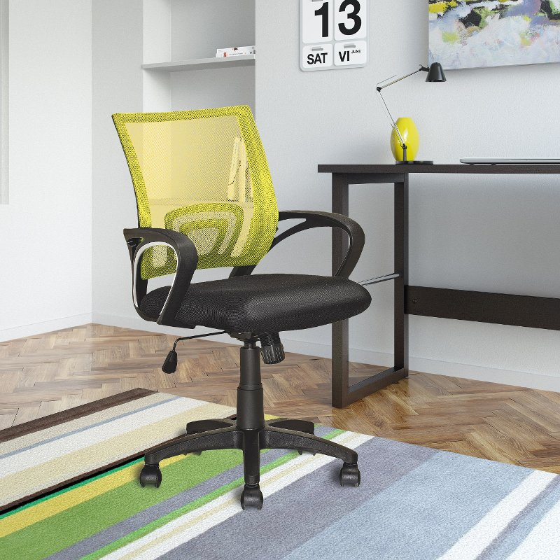 Sensational Yellow And Black Mesh Office Chair Workspace Ibusinesslaw Wood Chair Design Ideas Ibusinesslaworg