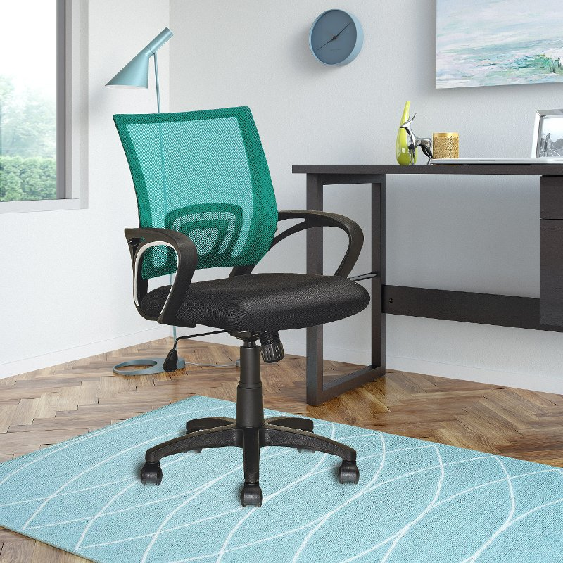 Swivel Stools Wood Antique Adjustable Height Black Teal Workspace Office Chair