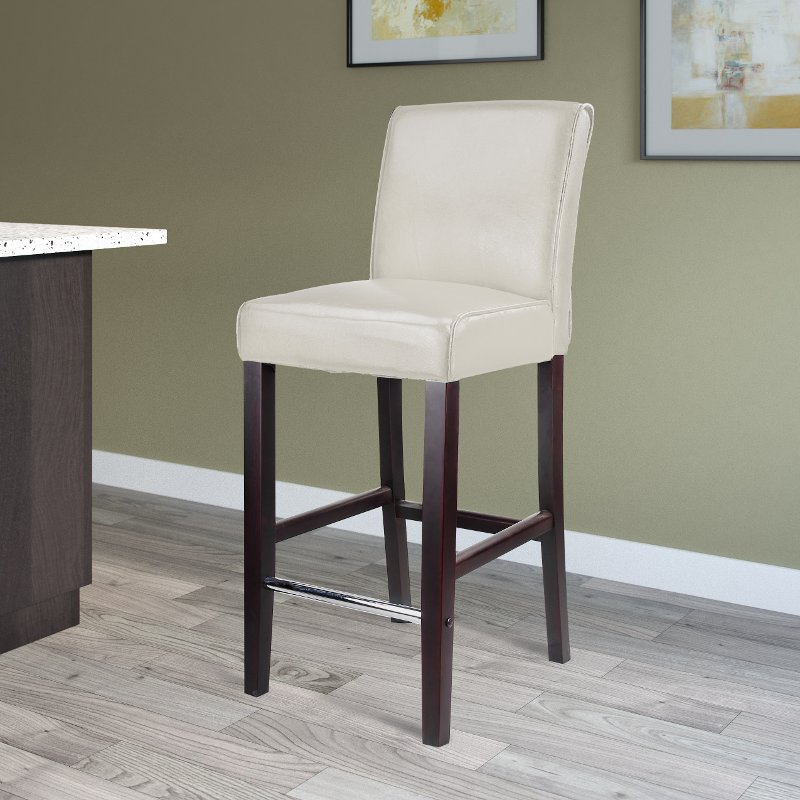 Miraculous White Bonded Leather Bar Stool Antonio Pdpeps Interior Chair Design Pdpepsorg